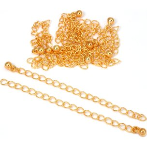 "Chain Extenders Gold Plated 3"" 10Pcs"