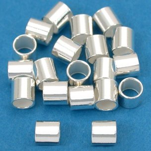 Crimp Beads Sterling Silver 3mm 20Pcs