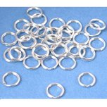 36 Sterling Silver Split Rings 7mm