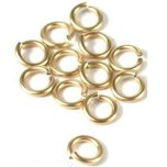 12 14K Gold Filled Jump Rings Open Jewelry Parts 7mm