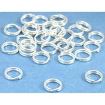 30 Sterling Silver Split Rings 6mm