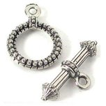 Bali Toggle Clasp Antique Silver Plated 18mm