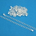"Chain Extenders Silver Plated 3"" 10Pcs"