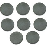 "8 Round Ceramic Magnets 3/4"" Strong Magnet Round Disc Craft Tool"