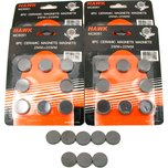 Lot Of 40 Round Disc Type Magnets For All Crafts 3/4""