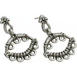 Chandelier Earrings w/ Hoops Antique Silver Plated 29mm 1 Pair