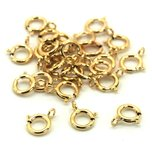 Spring Ring Clasp 14k Gold Filled 5.5mm 25Pcs