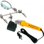 Helping Hand W/Stand & Magnifier 25 Watt Soldering Iron Jewelers Jewelry Repair