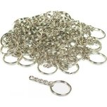 Key Chain Parts Nickel Plated 32mm 50Pcs