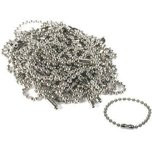 "Ball Key Chain Parts Nickel Plated 4"" 50Pcs"