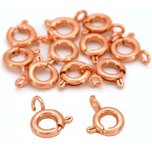 Spring Ring Clasp Copper Plated 6mm 12Pcs