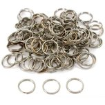 100 Nickel Plated Split Rings 12mm