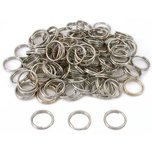 100 Nickel Plated Split Key Rings Keyrings 16mm 5/8""