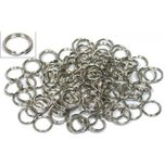 100 Nickel Plated Split Rings 6mm