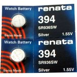 2 Renata 394 Watch Batteries SR936SW SB-A4 V394 280-17