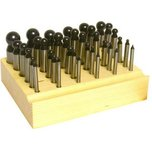 Dapping Punches Steel 36Pcs
