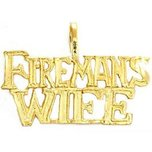 Fireman's Wife Charm 14k Gold 12mm