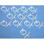 12 TOGGLE CLASP Silver Bead Parts FindingKing
