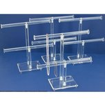 4pc 2 Tier Clear Acrylic T-Bar Chain & Bracelet Display