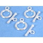 Toggle Clasps Sterling Silver 14mm 3Pcs