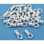 Crimp Cord End Sterling Silver 8mm 25Pcs