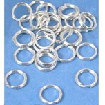 24 Split Rings Sterling Silver Beading Clasp Parts 8mm