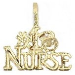 #1 Nurse Charm 14k Gold 18mm