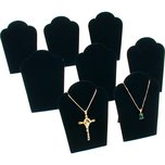 "8Pc Necklace Chain Display Pendant Black Velvet Jewelry Set 3 3/4"" x 5 1/4"""