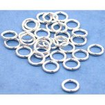 30 Jump Rings Closed Sterling Silver Jewelry Part 6mm