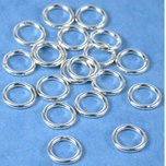 20 Jump Rings Closed Sterling Silver Jewelry Part 7mm