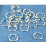 20 Jump Rings Closed Sterling Silver Jewelry Part 8mm