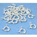 24 Sterling Silver Spring Ring Clasps Necklace Parts