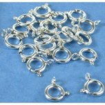 20 Spring Ring Clasps Sterling Silver 7mm Chain Part