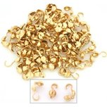 Bead Tips Gold Plated 3mm 100Pcs