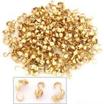 200 Bead Tips Clamshell Gold Plated Bead Stringing Parts