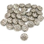 30 Saucer Bali Beads Jewelry Bead Stringing Parts