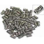 72 Nickel Plated Tube Bali Beads 11 x 6mm
