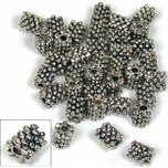 Bali Tube Nickel Plated Beads 7mm 36Pcs