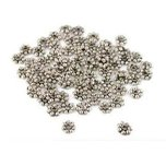 75 Nickel Plated Flower Bali Spacer Beads 5 x 1mm