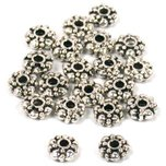 Bali Spacer Nickel Plated Beads 6mm 20Pcs