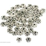 48 Saucer Bali Beads Nickel Jewelry Beading Round 6mm