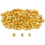 Crimp Beads Gold Plated 2mm 100Pcs