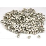Crimp Beads White Plated 2mm 175Pcs