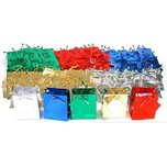 "Shopping Tote Bags Assorted Metallic Colors 3 1/2"" 100Pcs"