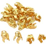 Bead Caps Gold Plated 9mm 20Pcs