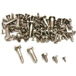 100 Clock Bell Case Screws Nickel Clockmaker Tool Parts