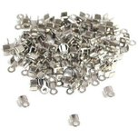 100 Nickel Plated Cord Ends Necklace & Bracelet Making 5mm x 3mm