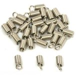 Coil Cord Ends Nickel Plated 11mm 36Pcs
