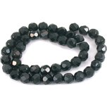 Round Faceted Fire Polished Chinese Crystal Beads Black 8mm 1 Strand