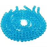"Round Faceted Fire Polished Chinese Crystal Beads Turquoise 10mm 12"" Strand"